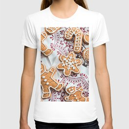 Images New year Snowflakes Food Cookies Pastry Chr T-shirt