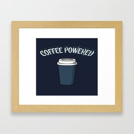 Coffee Powered Framed Art Print