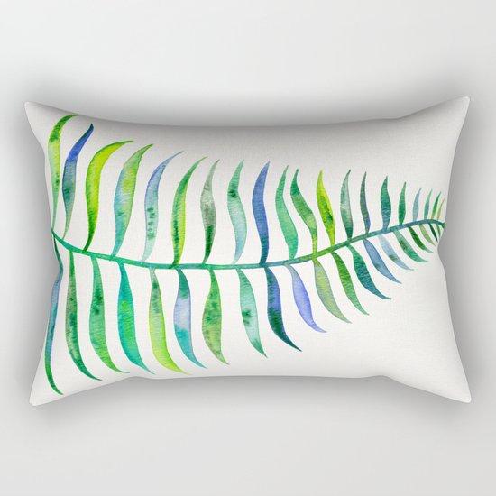 Palm Leaf – Green Palette Rectangular Pillow