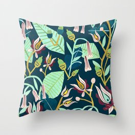 Folk Forest Throw Pillow