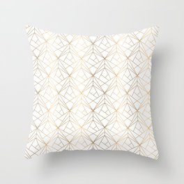 Gold pattern Throw Pillow