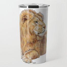 Relaxing Lion Travel Mug