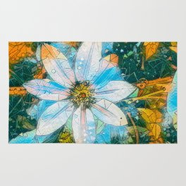 Clematis AI Blue Field Rug