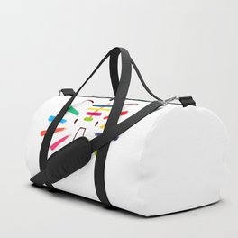 Tiger With Colorful Stripes Duffle Bag