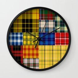 Crazy Plaid Wall Clock