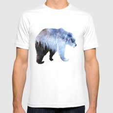 Lazy Bear MEDIUM White Mens Fitted Tee