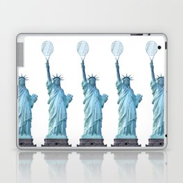 Statue of Liberty with Tennis Racquet Laptop & iPad Skin