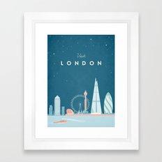 Vintage London Travel Poster Framed Art Print