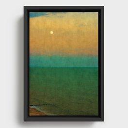 Sea ~ Moon Framed Canvas