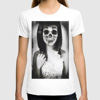 rockabilly T-shirts featuring rockabilly skull portrait by Joedunnz