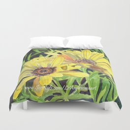 Yellow Daisies Duvet Cover