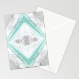 marble rhombus Stationery Cards