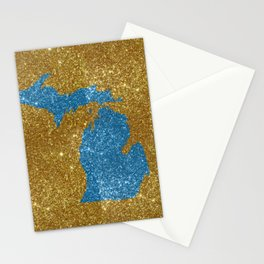 Michigan glitter Stationery Cards