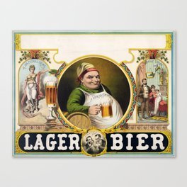 Vintage Lager Beer Advertisement Canvas Print