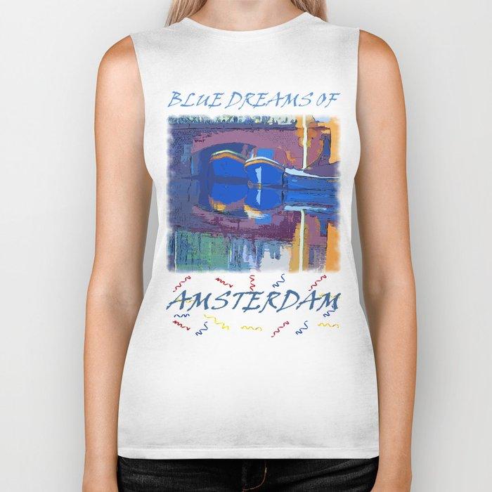 Blue Dreams from Amsterdam Biker Tank