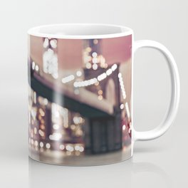 New York City Brooklyn Bridge Lights Coffee Mug