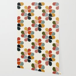 Retro geometry pattern Wallpaper