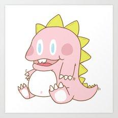 The pink dinosaur Art Print