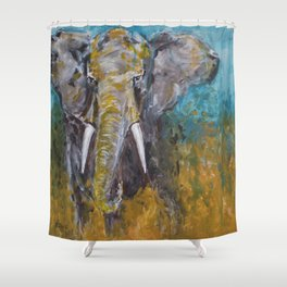 African Elephant Bull Shower Curtain