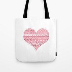 Patterned Valentine Tote Bag