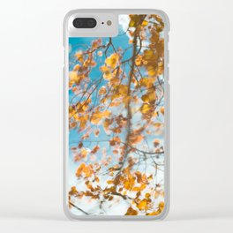 Autumn In Motion Clear iPhone Case