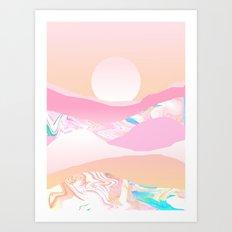 Sunrise Swirls Art Print