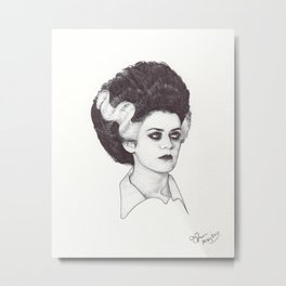 Magenta - Ballpoint Pen Illustration Metal Print