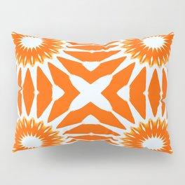 Orange Pinwheel Flowers Pillow Sham