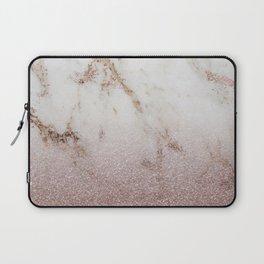 Burgundy glow - marble glitter gradient Laptop Sleeve