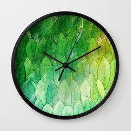 when the light hits the leaves Wall Clock