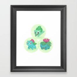 Poké: 1-2-3 Framed Art Print