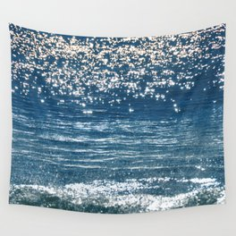 Blue Sea Sparkle Wall Tapestry