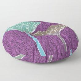 Looking Up on Purple Grain Floor Pillow