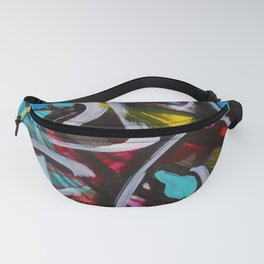 Abstract Painting Strokes Energy Tribal Fanny Pack