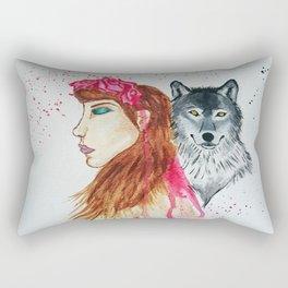 She Wolf Rectangular Pillow