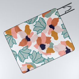 Carmella #illustration #pattern Picnic Blanket