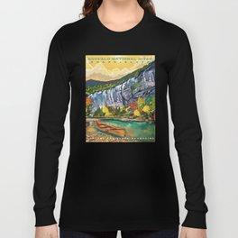 Buffalo National River Art by Sarah Bliss Rasul Long Sleeve T-shirt