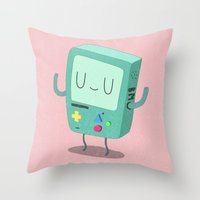 bmo Throw Pillows featuring BMO by Rod Perich
