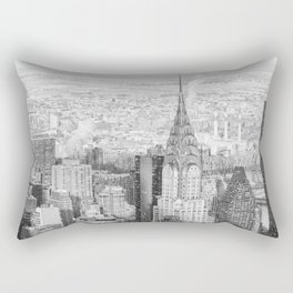 Snow - New York City - Chrysler Building Rectangular Pillow