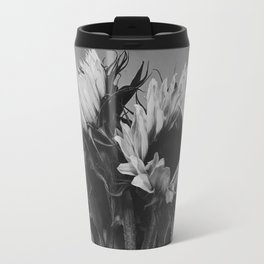 Black and White Sunflowers Travel Mug