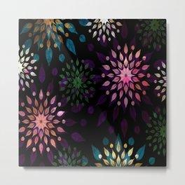 Mandala Splatter Craze Metal Print