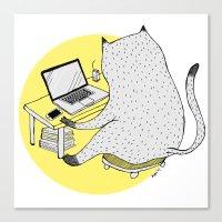 mac Canvas Prints featuring Mac Cat by Diana Hope
