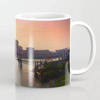 nashville Mugs featuring Nashville Dusk by Andooga Design
