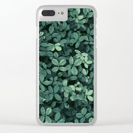 Garden Leaves Clear iPhone Case
