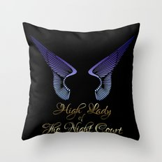 High Lady of the Night Court Throw Pillow