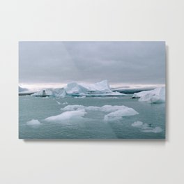 ICELAND WITH ICEBERGS IS INCREDIBLE ICY Metal Print
