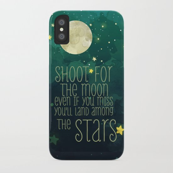 The moon and stars iPhone Case