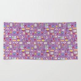 Proud To Be a Nurse Pattern / Purple Beach Towel
