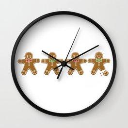 Gingerbread Men Wall Clock