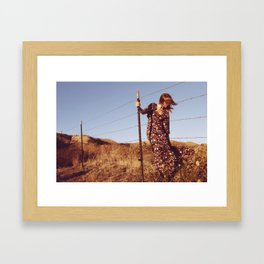 Change in the wind. Framed Art Print